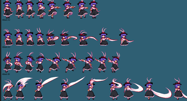 How to paint material of sprites ? 1110