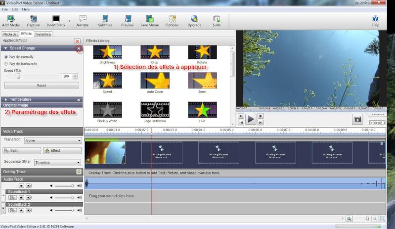 VideoPad Video Editor : premiers pas en montage vidéo Delme17
