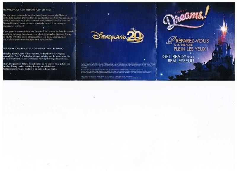 [Topic Unique] Les Menus 20 ans : Repas + accès VIP Disney Dreams ! Panpan16