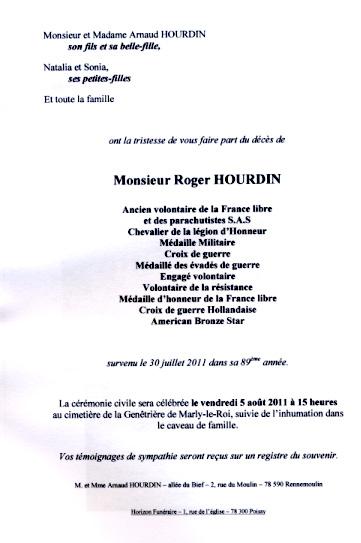 HOURDIN Roger Parachutiste SAS, l'un des derniers est mort dans sa 89e année Sans_t11
