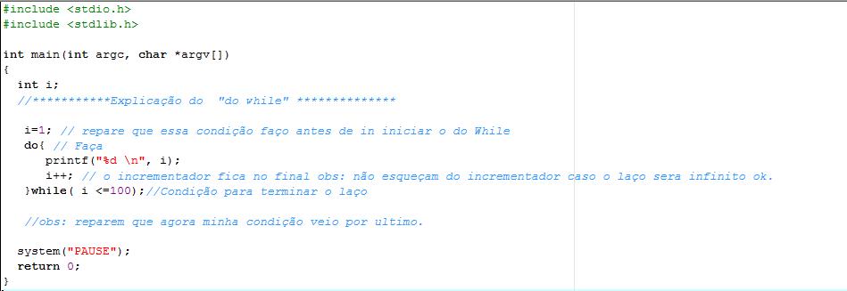 Exemplos de Estrutura de repetição Do_whi10