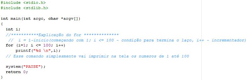 Exemplos de Estrutura de repetição For10