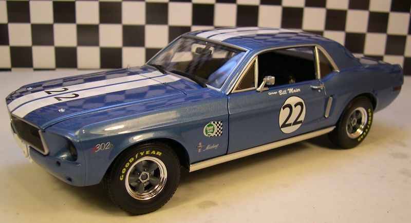 Mustangs 1968 à l'échelle 1:18  Greenl15