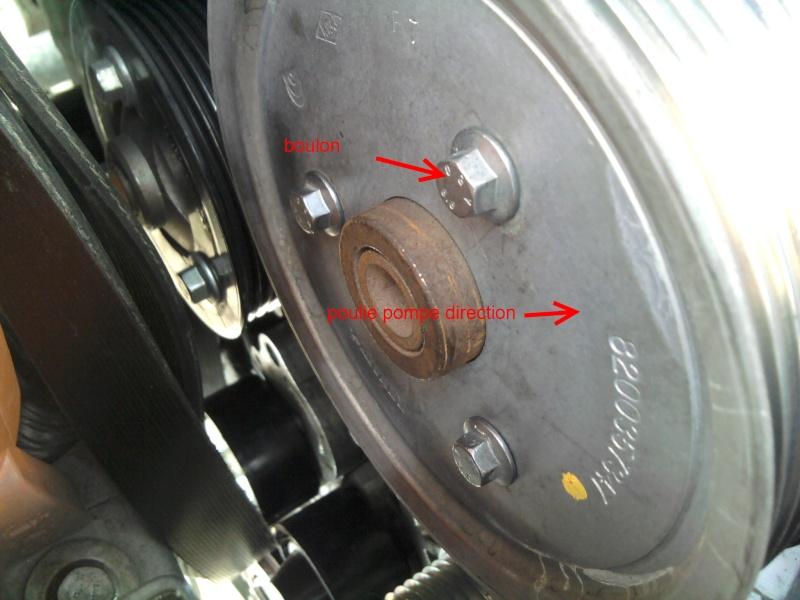 [ Renault Laguna III 2.0 DCI 150ch ] changement poulie débrayable alternateur (TUTO) 2011-075