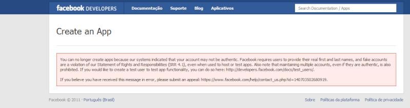Erro facebook connect Facebo12