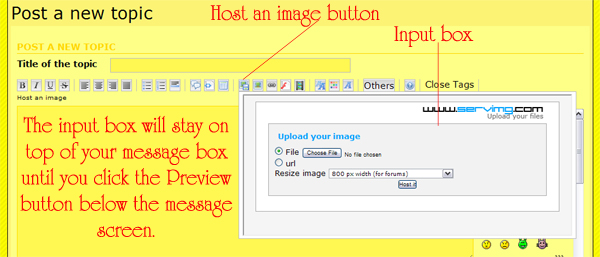 How to add a photo to your message--simplified Forumh10