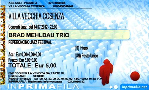 Peperoncino Jazz Festival 2012. Brad_m10