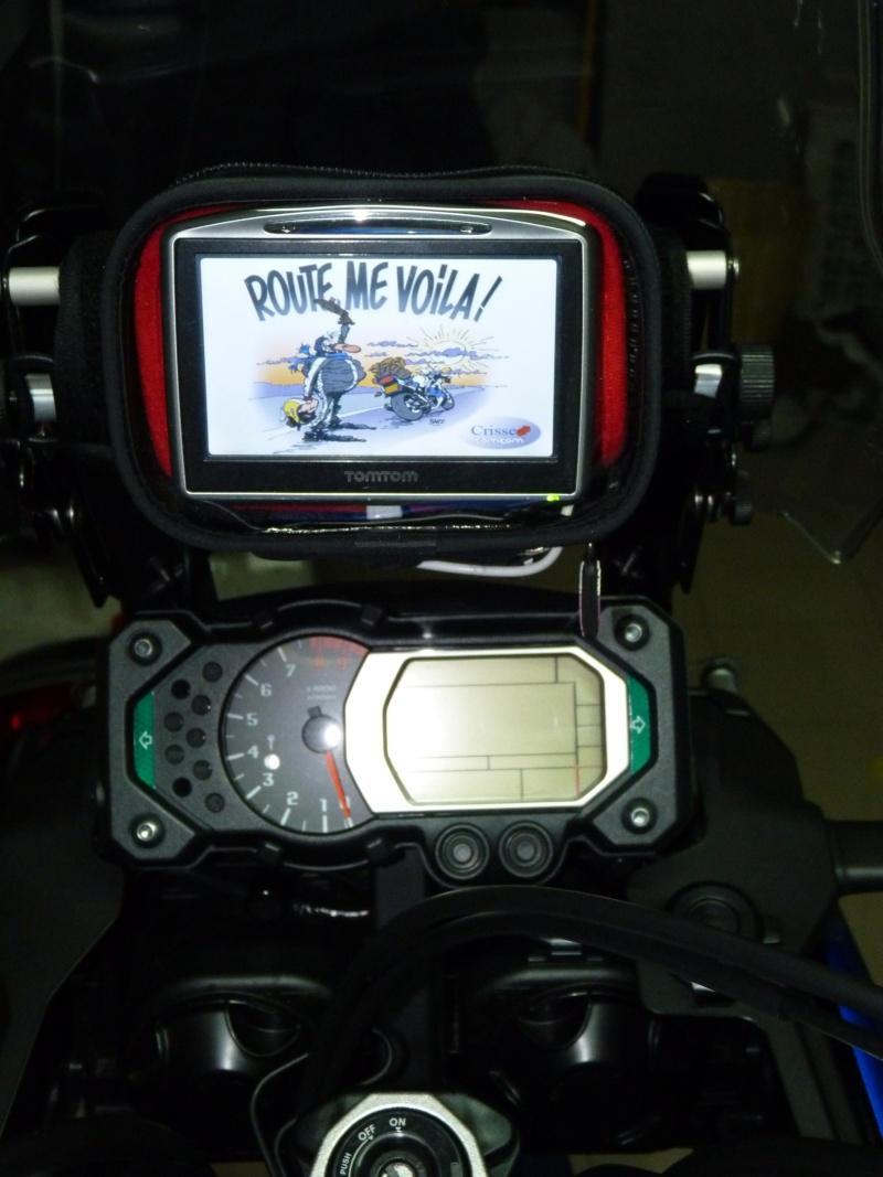 Réglage de la bulle avec tige GPS pour Yamaha XT1200Z Super Tenere Suppor16