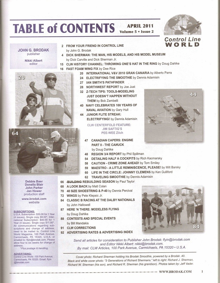 """Control Line World"" Magazine over on the Brodak Site 1_166"