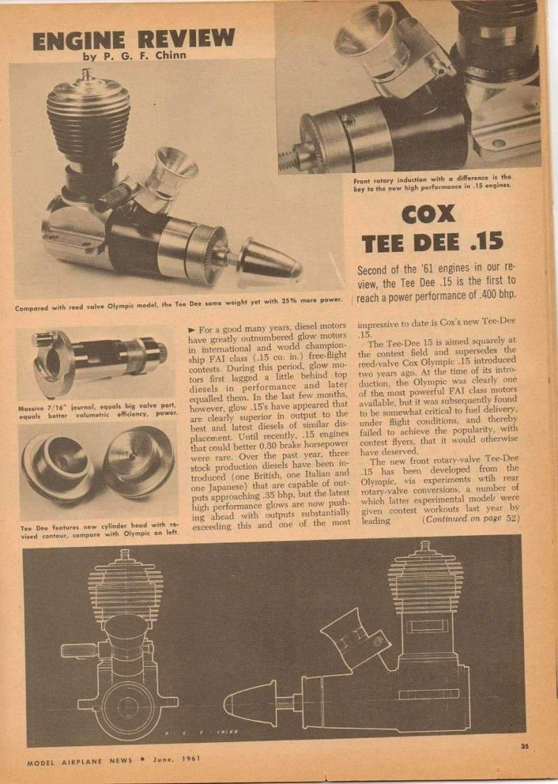 Cox Engine Tests/reviews ONLY 1a10