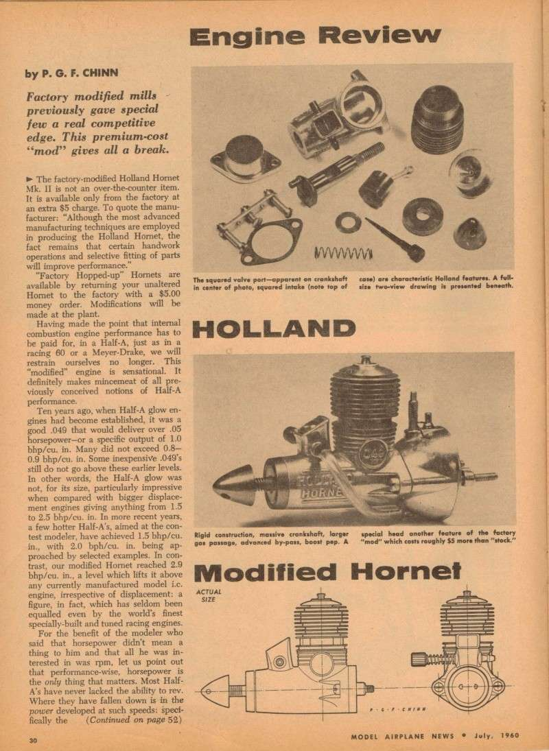 Cox Engine Tests/reviews ONLY Hollan15