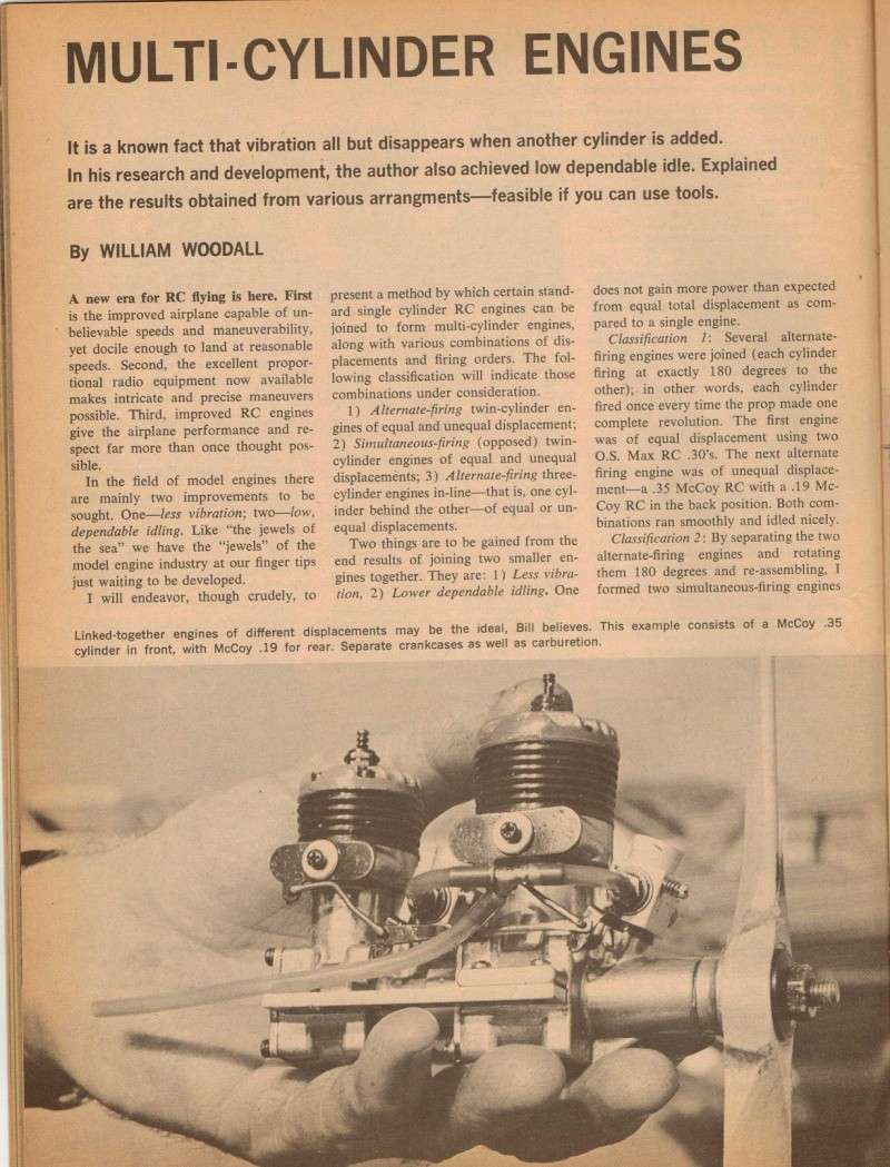Multi-Cylinder Engine Article American Modeler 3/67 M_e_ad10