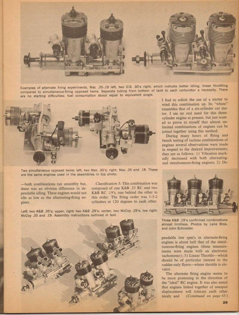 Multi-Cylinder Engine Article American Modeler 3/67 M_e_ad11