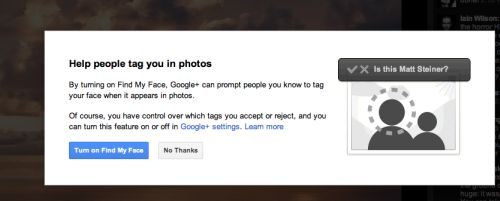 Google+ 'Find My Face' Facial Recognition Feature Google14