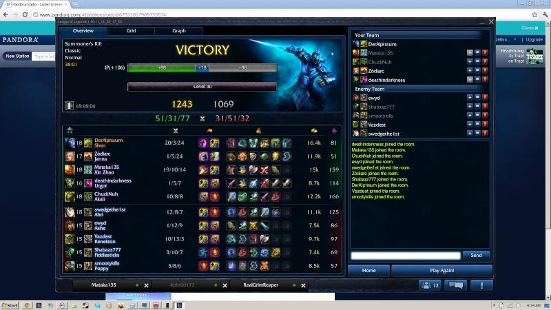 Good Game? Shen_o11