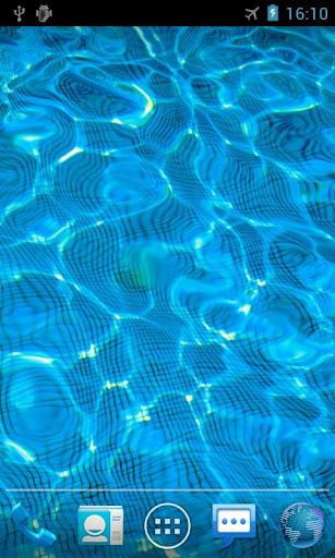 Sfondo animato di una piscina d'acqua da inserire nel proprio Smartphone Android - Water Drop live wallpaper 2btcw010