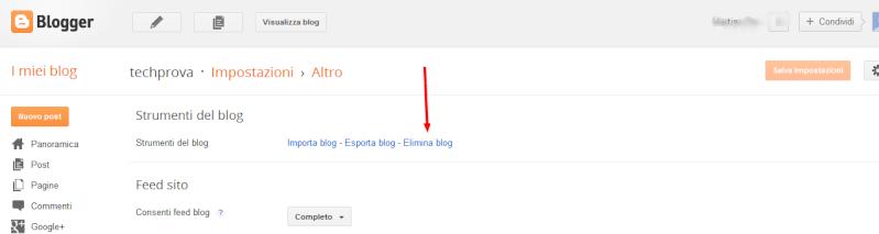 Come eliminare un blog da blogger 2ryg9r10