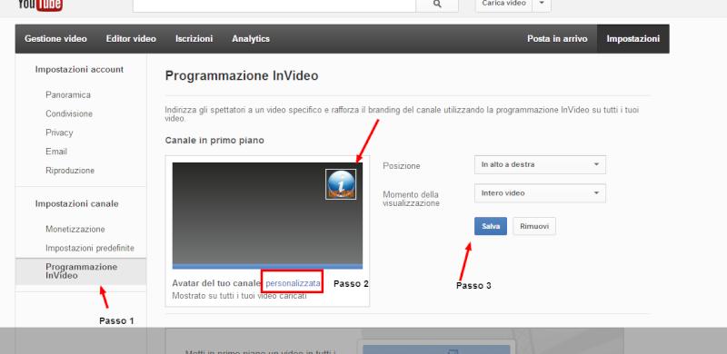 Come inserire un logo del proprio canale in ogni video Youtube 2ywa3d10