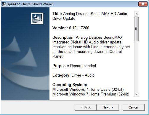 Non funziona più l'audio del mio HP - Soluzione con Driver audio HP  Adi-so10