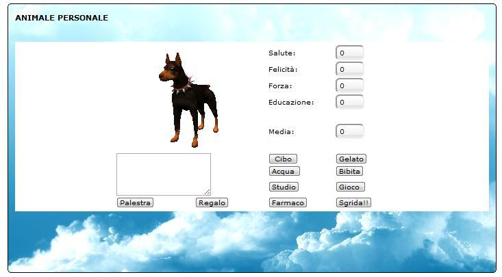 Codice Javascript per avere un animale personale Animal10