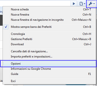 Pop up di connesione Chrome10