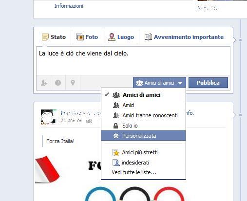 Condividere foto, video o link solo a determinate persone su Facebook Condiv10