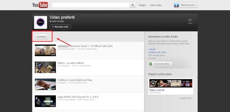 Come integrare una playlist di Youtube sul proprio sito Condiv10