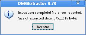 Convertire file DMG - DMGExtractor  Dmgext10