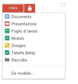 Crea documenti, fogli di lavoro, sondaggi ect. con Google Docs Docume11