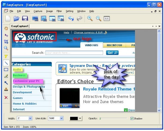 Catturare immagini dallo schermo del computer - EasyCapture Easyca10