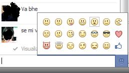 Novità chat Facebook: inserire emoticon con un click Emotic10