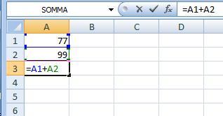 Come fare operazioni all'interno di una casella Excel Excel210