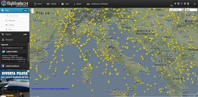 Constare il traffico aereo - Flightradar24 Flight11