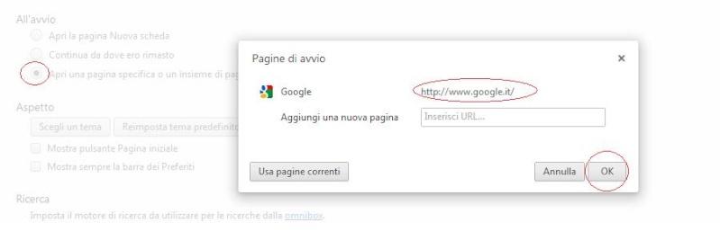 Aprire la pagina Google, all'apertura di Google Chrome Google19