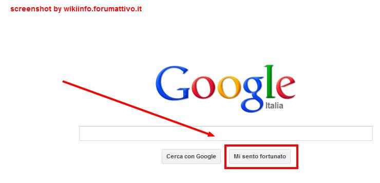 """A cosa serve il tasto """"Mi sento fortunato"""" su Google? Google21"""