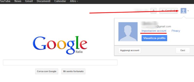 Modificare la lingua del proprio account Google Google22