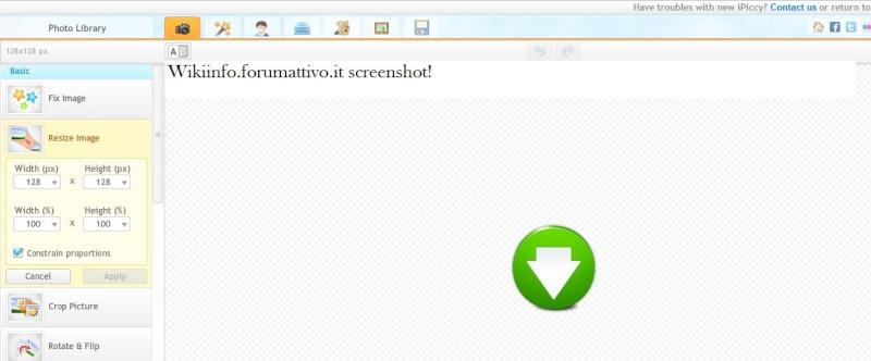Personalizzare le proprio foto sul proprio browser con iPiccy Ipyccy10