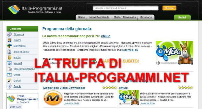 Il sito Italia-programmi.net non è stato chiuso, è solo un illusione! Italia13