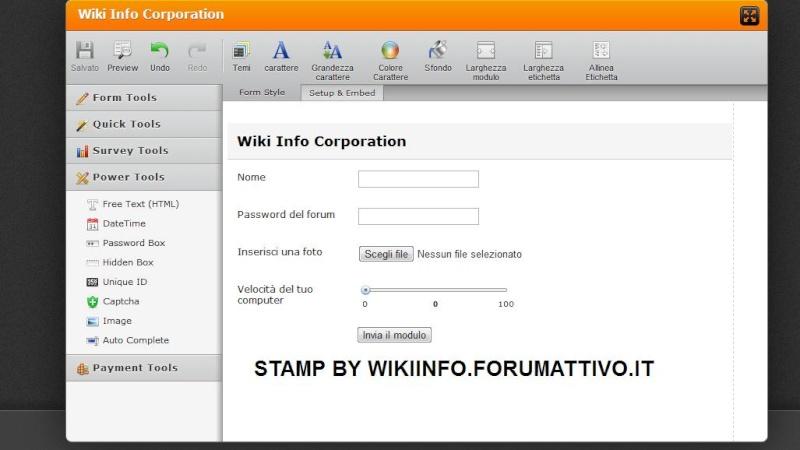 Creare un modulo di contatto con Jotform! J110