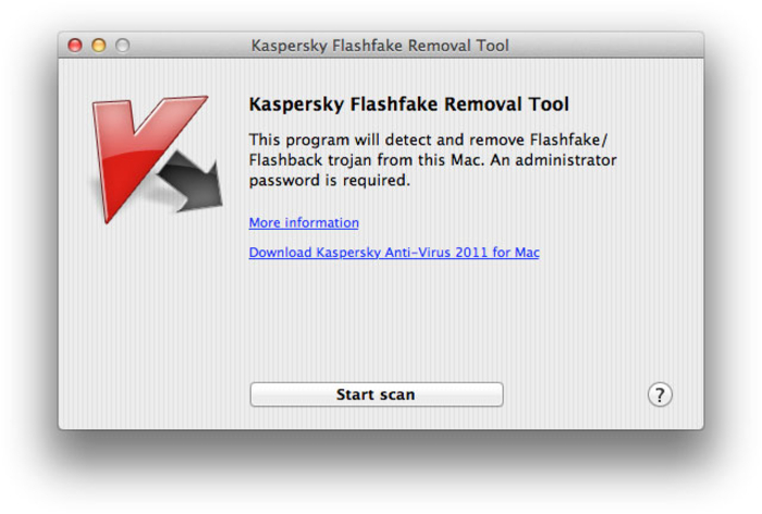 Rimuovere Flashfake su Mac OS X - Kaspersky Flashfake Removal Tool Kasper10