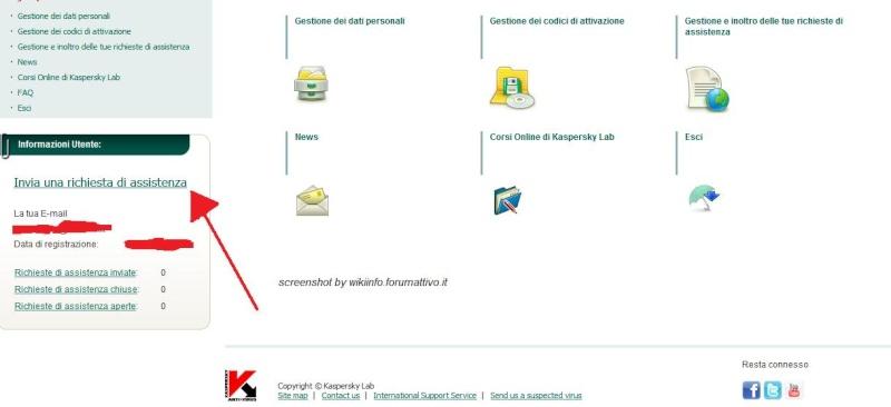 Come inviare una richiesta di assistenza a Kaspersky Lab Kasper11