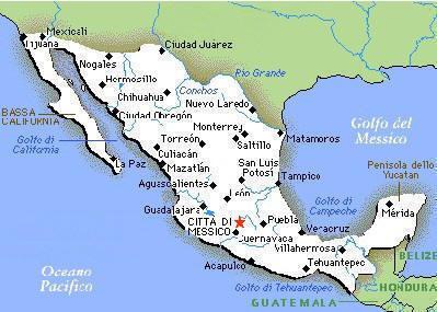 Il Messico Mappa210