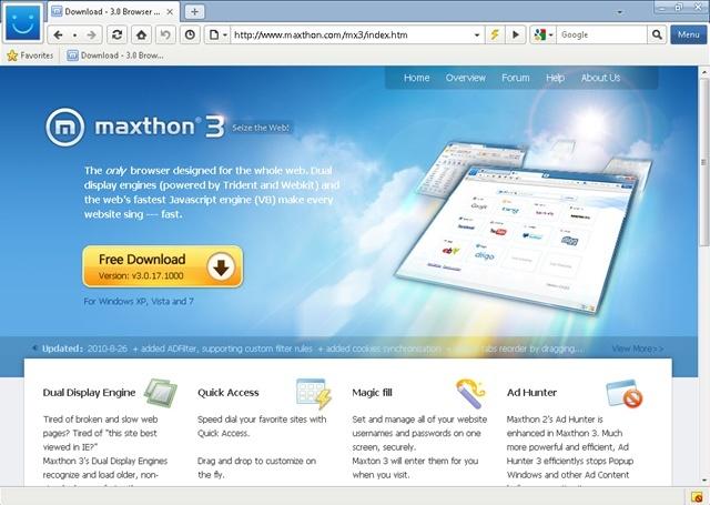 Ottimo sostituto Google Chrome - Maxthon 3  Maxtho10
