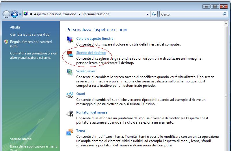 Come cambiare sfondo su Windows Vista  Person11