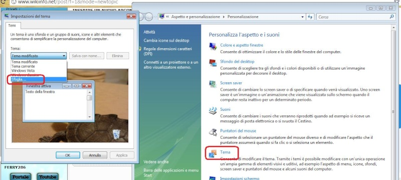 Come personalizzare il proprio tema in Windows Vista Person13