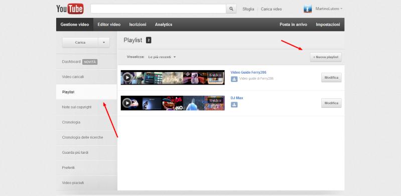 Come creare una playlist su Youtube Play210