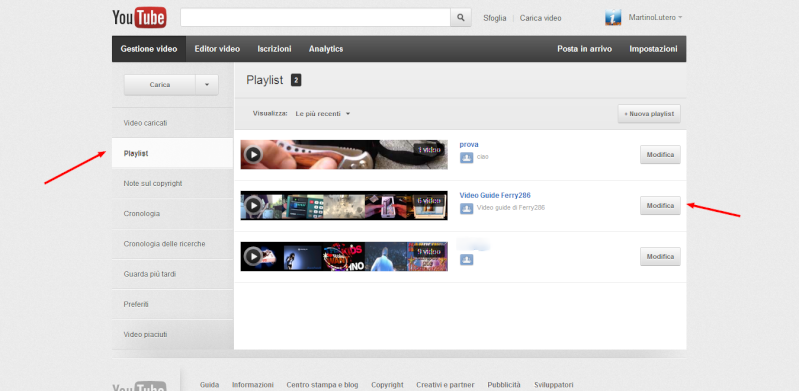 Come cambiare l'ordine dei video in una playlist su Youtube Playli11