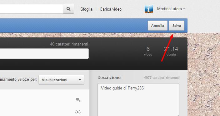 Come cambiare l'ordine dei video in una playlist su Youtube Playli12