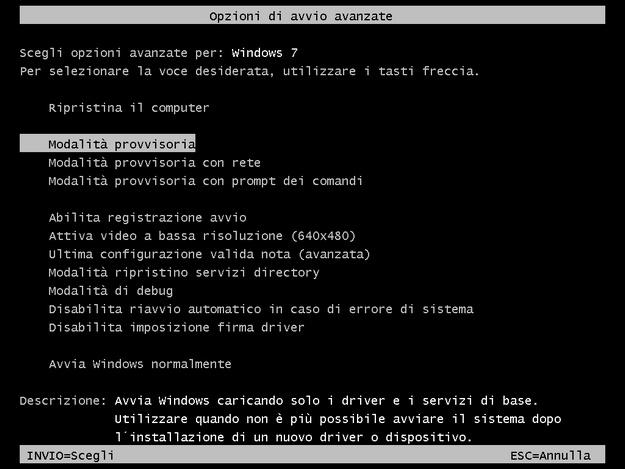 Non riesco ad entrare nel computer per un virus - Soluzione  Prov110