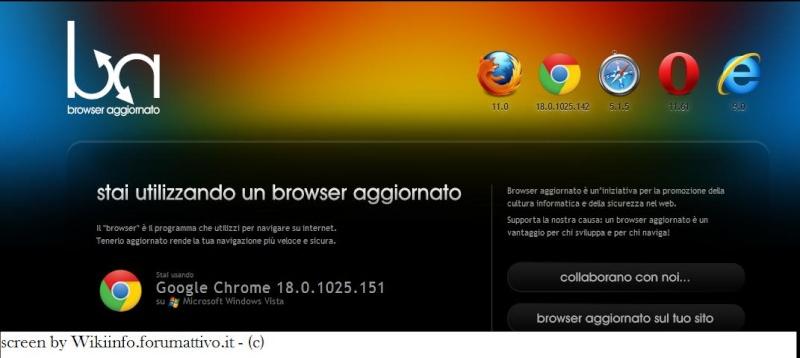 Guardare se il proprio browser è aggiornato Screen13